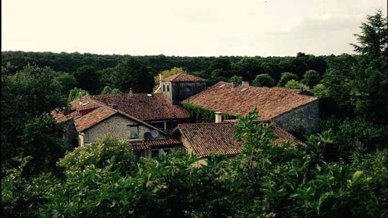 Bovenaanzicht klooster