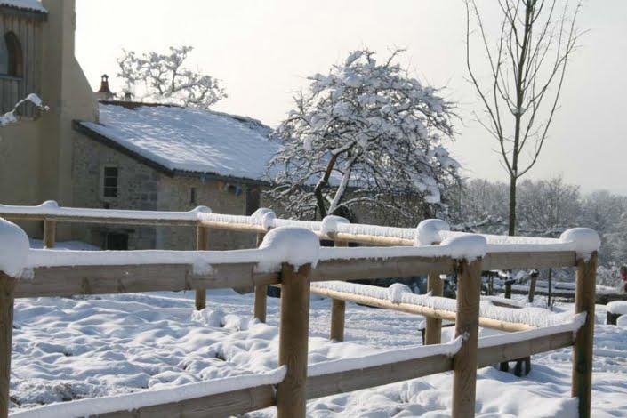 Buitenbak in de winter
