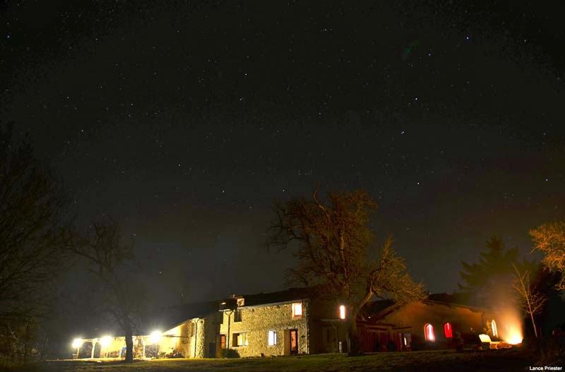 Klooster bij nacht